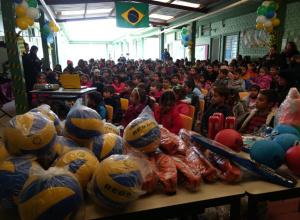 EMEF Valentim Bastianello entra no clima da Copa do Mundo