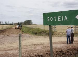 Estradas do interior de Dilermando de Aguiar passam por manutenção